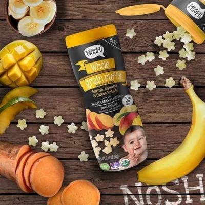 Nosh! 諾許寶寶星星餅乾60g(芒果香蕉地瓜口味)-3入