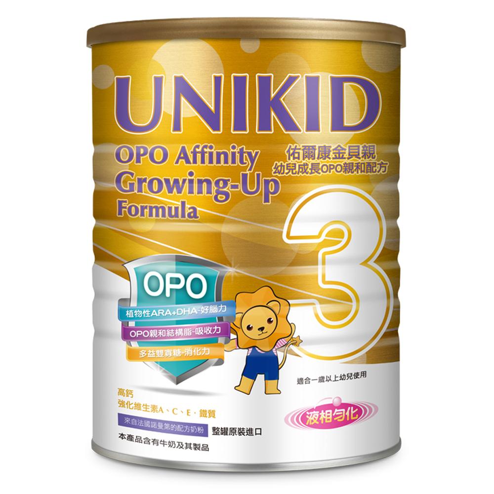 UNIKID 佑爾康金貝親 幼兒成長OPO親和配方900g(12入)