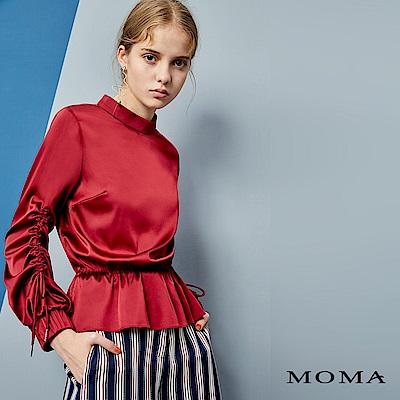 MOMA 小立領緞面上衣