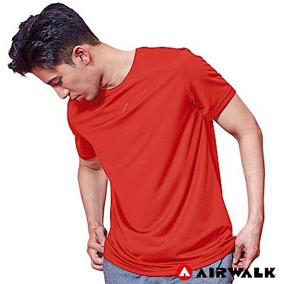 【AIRWALK】男款吸排短T-中橘