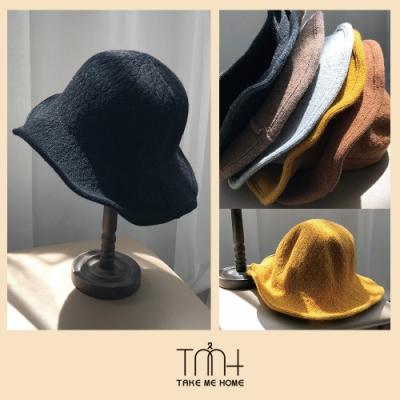 TMH-韓國空運 盆帽 針織漁夫帽-6色