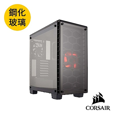 CORSAIR海盜船 Crystal Series® 460X 三面透側中塔式機殼-黑