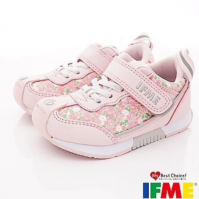 IFME健康機能鞋 小碎花穩定鞋款 NI01402粉(中小童段)