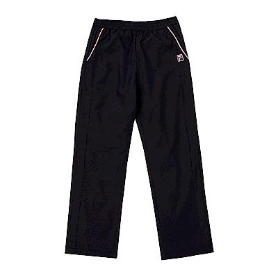 FILA KIDS 童吸濕排汗風衣長褲-黑 5PNS-8323-BK