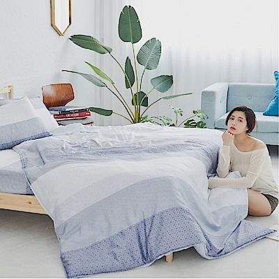 BUHO 100%TENCEL天絲床包枕套組-雙人特大(晨茶思忖)