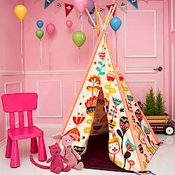 Cuna TentxSagapole 成長美學小木屋-兒童帳篷遊戲床(奧地利音樂城)