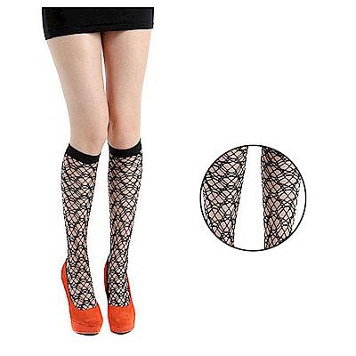 摩達客 英國進口義大利製Pamela Mann 理還亂個性網襪高筒襪及膝襪