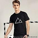 GIORDANO  男款G-MOTION素色LOGO運動短袖T恤-91 標誌黑