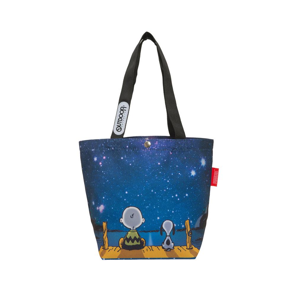 【OUTDOOR】SNOOPY聯名款購物袋-星空款 ODP20D02NY