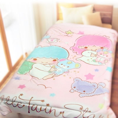 享夢城堡 超柔暖暖毯被150x195cm-雙星仙子 夢幻幸運熊-粉