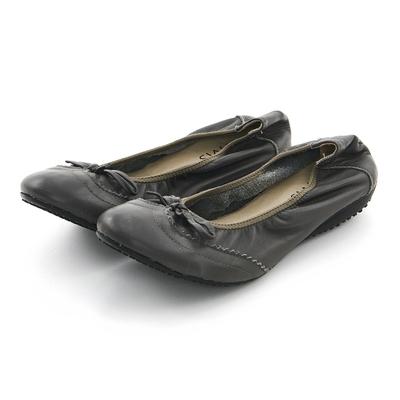 G.Ms. 牛津蝴蝶結牛皮彎折娃娃鞋-灰色