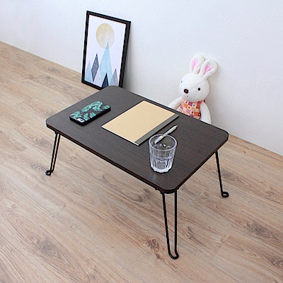頂堅 [折合腳]折疊桌/野餐桌/和室桌-寬60x深40x高31/公分-二色