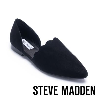 STEVE MADDEN-TRIXX花邊尖頭平底鞋-黑色