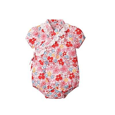 baby童衣 蕾絲和服造型三角包屁衣 80070