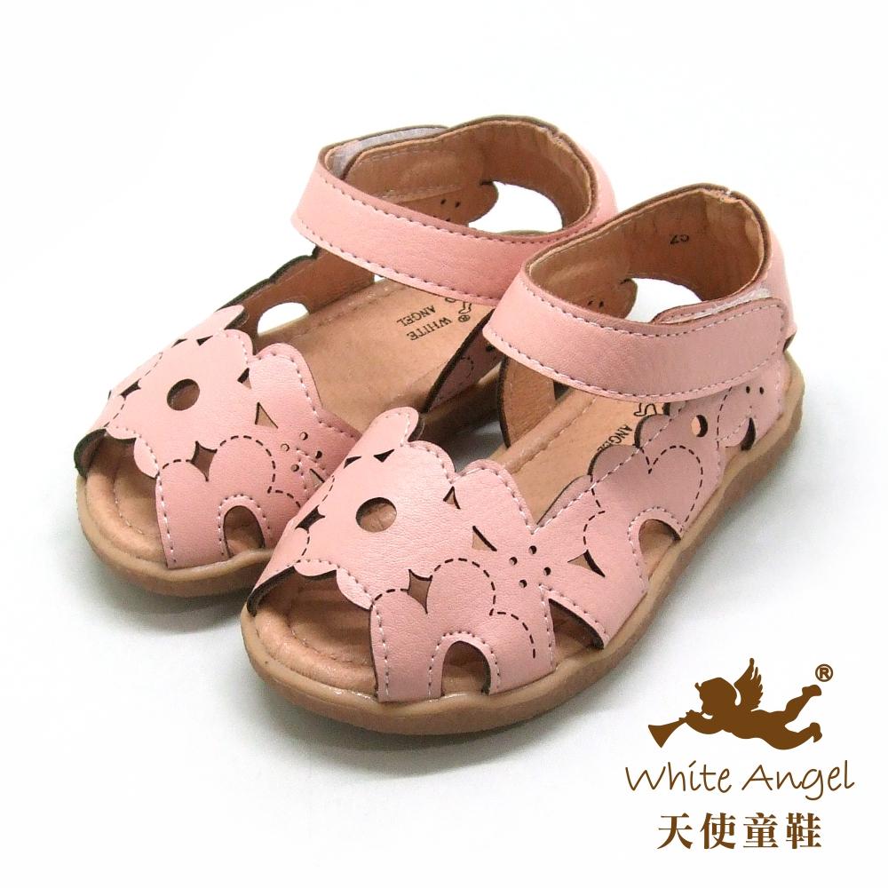 天使童鞋 浪漫落櫻繽紛涼鞋(小童)i923-粉