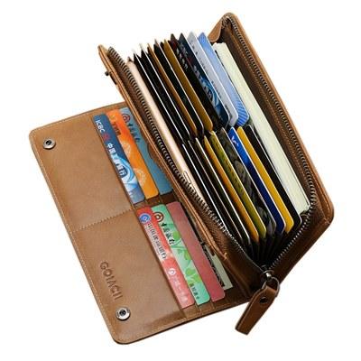 玩皮工坊-頭層牛皮29卡位男士皮夾錢包錢夾長夾男夾-LH305