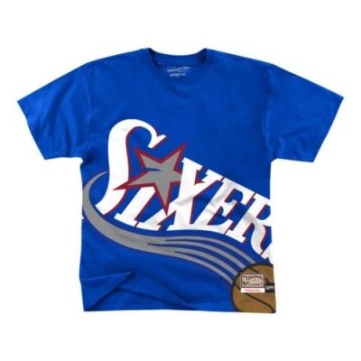 M&N NBA BIG FACE 重磅 短袖T恤 76人