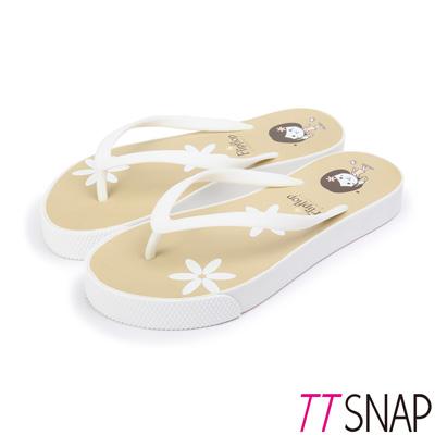 TTSNAP拖鞋-MIT青春陽光可愛海灘涼拖 咖