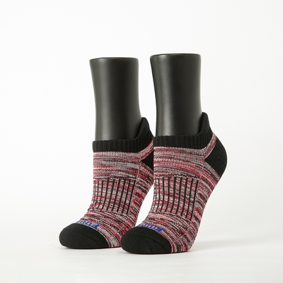 Footer除臭襪-線條拼色輕壓力船短襪(女襪-T207)