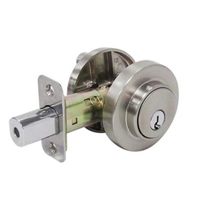 加安牌 現代風系列補助鎖 DA1X21 60mm 磨砂銀色 扁平鑰匙 圓套盤輔助鎖 大門鎖