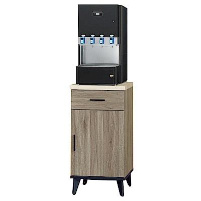 綠活居 波芬時尚1.5尺仿石面木紋餐櫃/收納櫃-44.8x43x81.4cm-免組