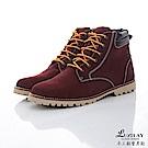 LUXPLAY  男款 經典羊巴戈輕手感黃靴 WK234酒紅