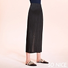 SO NICE簡約壓褶造型寬褲