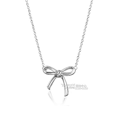 TIFFANY&Co.Tiffany Bow 蝴蝶結純銀項鍊