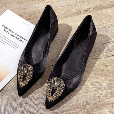 KEITH-WILL時尚鞋館 狂賣千雙輕盈舒適尖頭鞋-黑