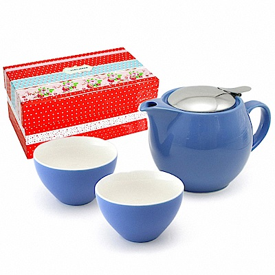 ZERO JAPAN 典藏陶瓷一壺兩杯超值禮盒組(藍苺)