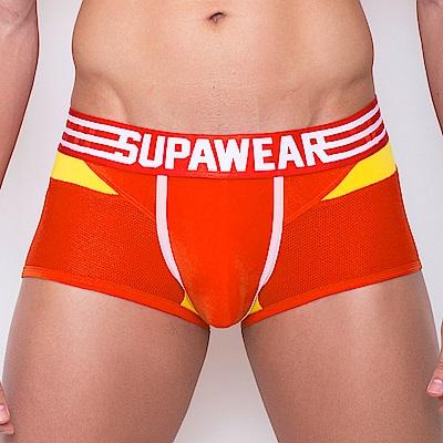 SUPAWEAR 火箭爆衝超彈性型男四角內褲(橘紅色)