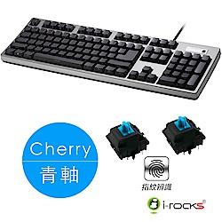 i-Rocks K68MNF側刻無背光指紋辨識機械式鍵盤-德國Cherry青軸