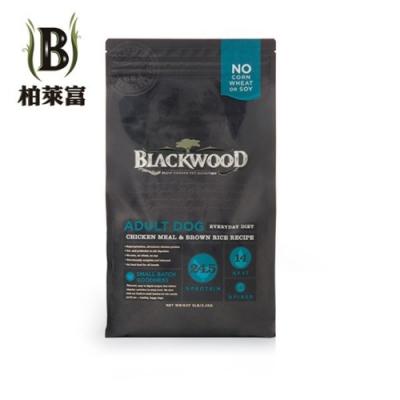 美國BLACKWOOD柏萊富-天然寵糧特調成犬活力配方(雞肉+糙米) 15磅/ 6.8kg