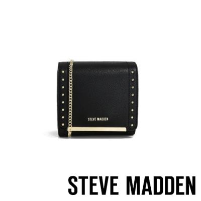 STEVE MADDEN-BLYRICM 時尚氣質鍊帶斜肩背宴會小方包-黑色