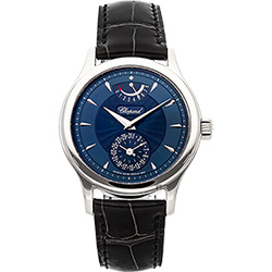 CHOPARD 蕭邦錶 L.U.C Quattro 18K白金動力儲存機械錶-藍/38mm