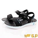 GP時尚涼拖  磁扣超輕量涼鞋款-EI697W-21水藍(女段)