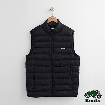 Roots 男裝-經典收納式羽絨背心-黑色