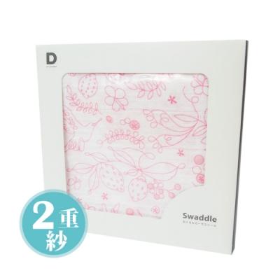 D BY DADWAY_2重紗布包巾 / 粉紅小蜂鳥