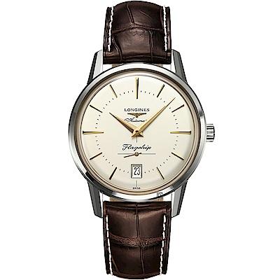 (無卡分期18期)LONGINES浪琴 Heritage 旗艦復刻小秒針機械錶