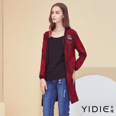 【YIDIE衣蝶】街頭風字母圖案刺繡外套