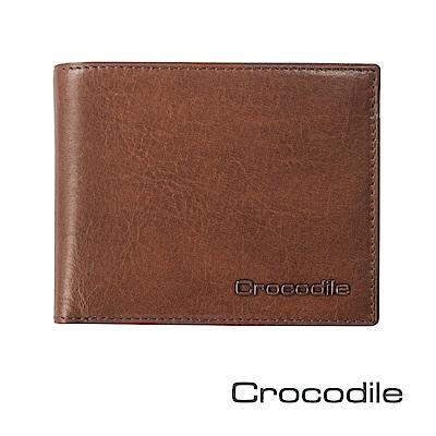 Crocodile Natural系列義大利植鞣雙鈔短夾 0103-5805