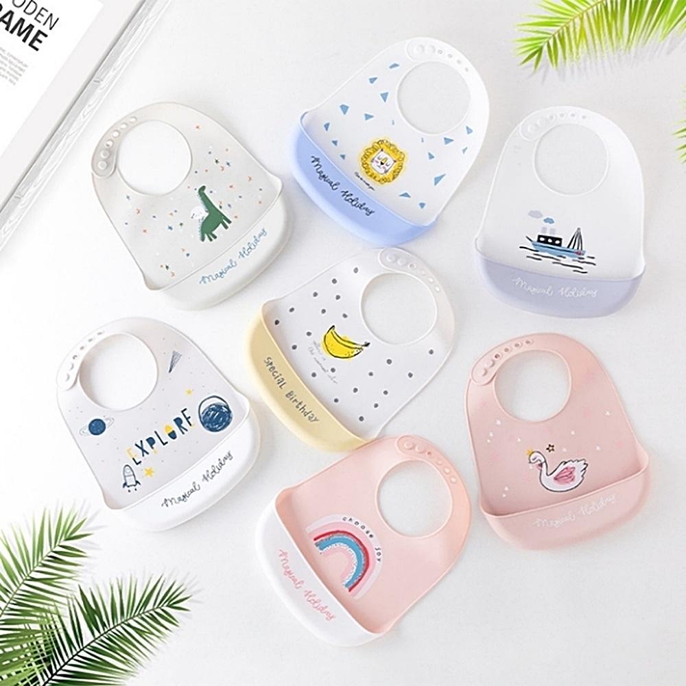 Baby童衣 嬰幼兒矽膠圍兜 寶寶立體飯兜 防水防髒接飯飯兜 88494