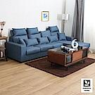 多瓦娜 布隆迪貓抓皮L型沙發