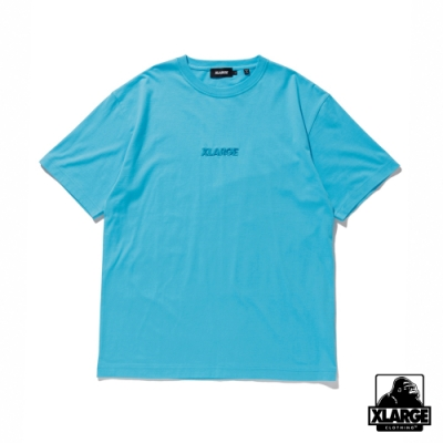 XLARGE S/S TEE EMBROIDERY STANDARD LOGO短袖T恤-藍