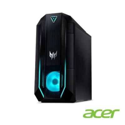 (福利品)Acer Orion PO3-620 十代i5六核雙碟獨顯電競桌上型電腦(i5-10400/RTX 2060S/32G/512G/1T/Win10h/Predator)
