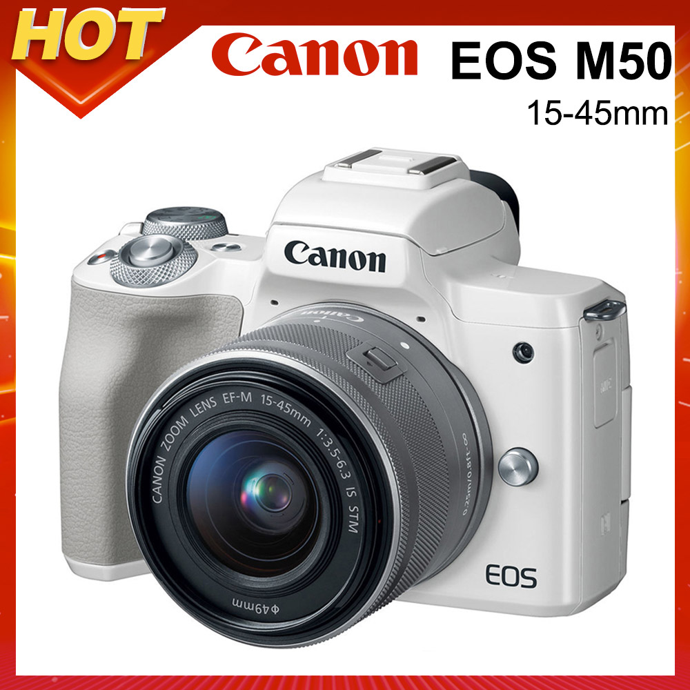 Canon EOS M50 15-45mm IS STM 變焦鏡組(公司貨) product image 1