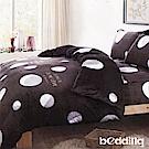BEDDING-法蘭絨標準雙人6x7兩用被套-夢幻星球-灰