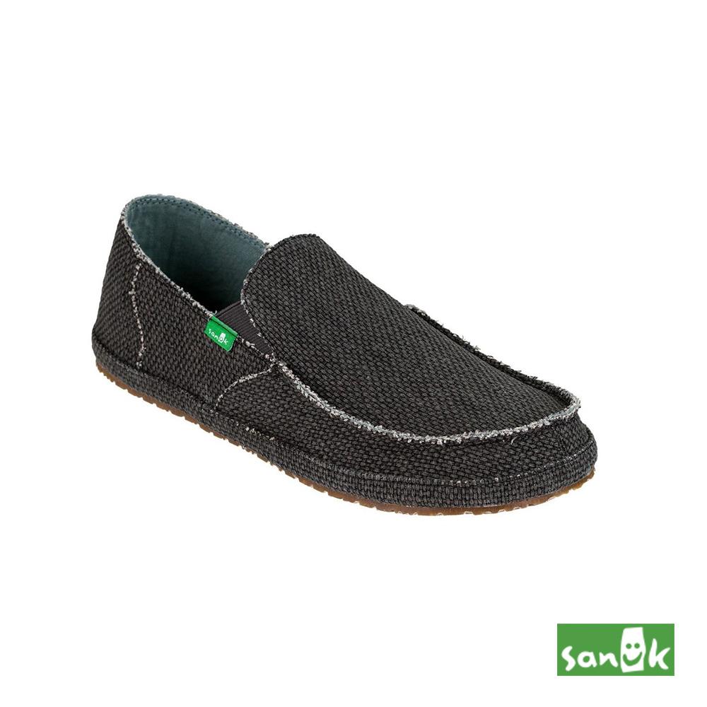 SANUK 素面窄版休閒鞋-男款(灰黑色)SMF10113 PRBK