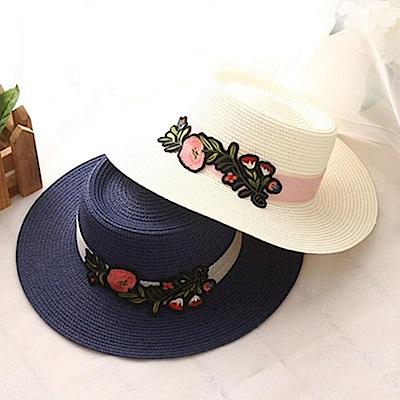 米蘭精品 草帽防曬遮陽禮帽-韓版街頭有型時尚女帽子母親節禮物73rp145