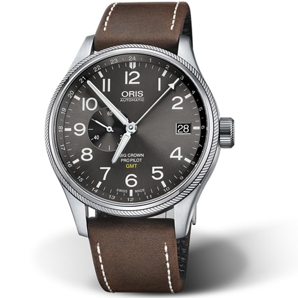 Oris豪利時BIG CROWN PROPILOT雙時區機械錶-灰